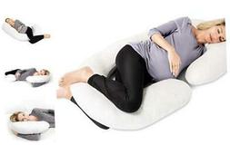 Full Body Maternity Pregnancy Pillow - 60-inch C-Shaped Pill