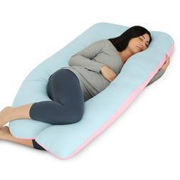 PharMeDoc Full Body Pillow, U Shaped Pregnancy Pillow + Blue