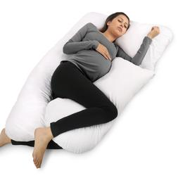 PharMeDoc Full Body Pillow, U Shaped Pregnancy Pillow & Mate