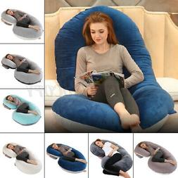 Full Body Pregnancy Pillow C-Shaped Maternity Cushion Belly