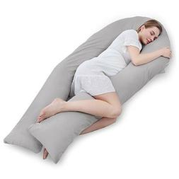 Meiz Full Body Pregnancy Pillow - with 300TC Comfy Cotton Pi