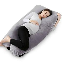 Full Body Pregnancy Pillow with Washable Cover-U Shaped By Q