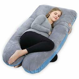 QUEEN ROSE Full Body Pregnancy Pillow with Washable Cover-U