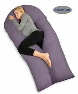 QUEEN ROSE FULL BODY PREGNANCY SUPPORT PILLOW U SHAPE PURPLE