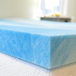 Gel Memory Foam Mattress Topper Cal King Size, Plush 2 Inch