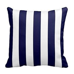Generic Navy Blue and White Extra Large Stripe Pattern Throw