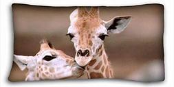 DEGTTF Generic Personalized Animal Zippered Body Pillow Case