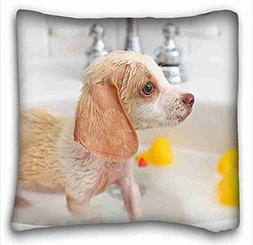 """Generic Personalized Animal Pillowcase Cover 16""""X16"""" One Sid"""