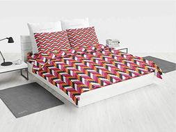 Geometric Toddler boy Bedding Sets Pixel Art Style Stripes T