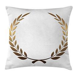 Funny bag Gold Throw Pillow Cushion Cover Ancient Circular L