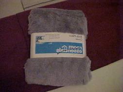 Room Essentials Gray Faux Fur Body Pillow Cover Zipper Closu