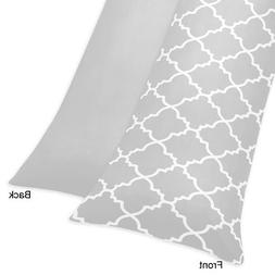 Sweet Jojo Designs Gray and White Trellis Full Length Double
