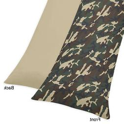 Sweet Jojo Designs Green Camo Full Length Double Zippered Bo