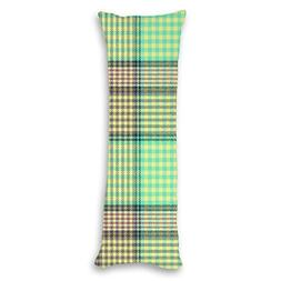 wonbye Green Striped Grid Pattern Bedroom Decor Accent Pillo