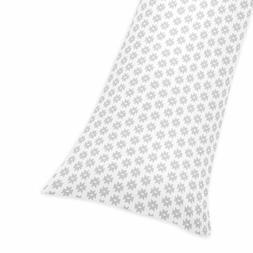 Grey Geometric Pillow Case Pregnancy Body Pillowcase Cover F