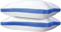 Lux Decor Collection Gusseted Quilted Bed Pillow - Set of 2