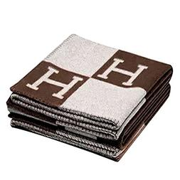 H-Blanket wool Cashmere Knitted Throw Blanket for Couch/Chai