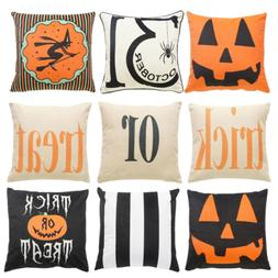 Halloween Pumpkin Throw Pillow Cover Pillowcases Decorative