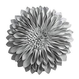JWH 3D Sunflower Accent Pillow Hand Craft Round Cushion Deco