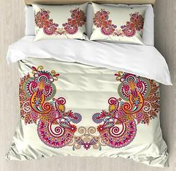 Henna Duvet Cover Set Twin Queen King Sizes with Pillow Sham