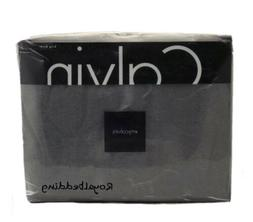 Calvin Klein Home Modern Cotton Body Duvet Cover, King, Char