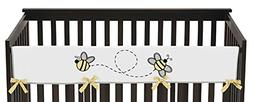 Sweet Jojo Designs Honey Bee Long Front Rail Guard Baby Teet