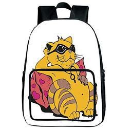 iPrint Vogue Pressure Relief Spine Bag,Funny,Fat Tomcat with