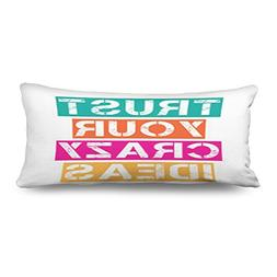"20"" x 54"" Inches Body Pillows Covers Inspirational Quotetrus"