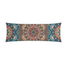 Indian Mandala Body Pillow Cover Decorative Case Pillowcase
