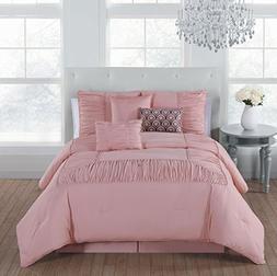 Avondale Manor Jules 7 Piece Comforter Set, Queen, Blush