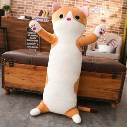 Kawaii Cute Big Cat Body Pillow for Kids and Teens