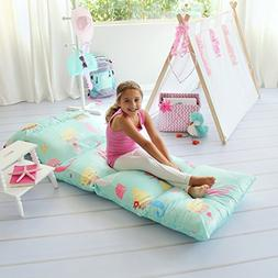 Butterfly Craze Kid's Floor Pillow Bed Cover - Use as Nap Ma
