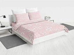 Kids Twin XL Bedding Set Pink Owls and Little Birds on Cute