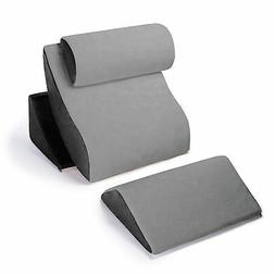Avana Kind Bed Orthopedic Support Pillow Comfort System Grey