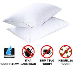 King Cotton Terry Zippered Bed Bug 100% Water Proof Pillow E