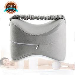 Velidy Knee Pillows Memory Foam Leg Pillow Slow Rising Cushi