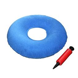 "Kovira Inflatable 15"" Coccyx Donut Cushion Pillow with Pump"