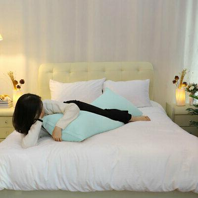 2PCS Covers Soft Long Pillowcases 16 Colors