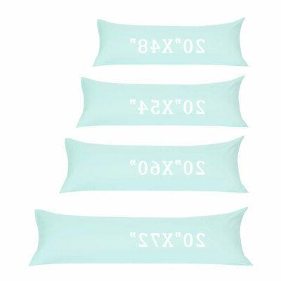 Soft 1800 Long Pillowcases Zipper Colors