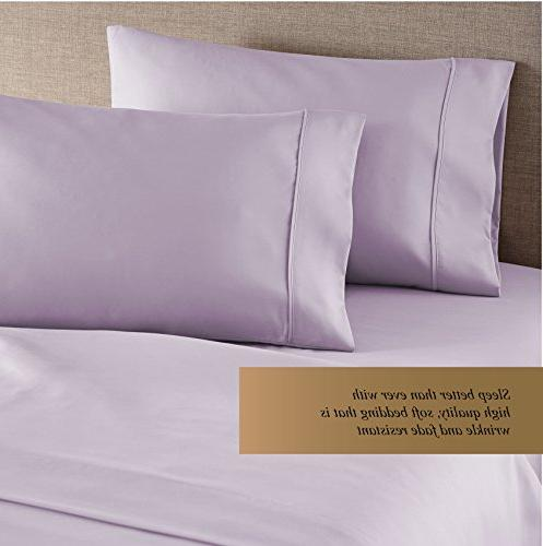 HC 1500 Count Egyptian Quality 2pc Set of Silky Soft Free Size Lavender