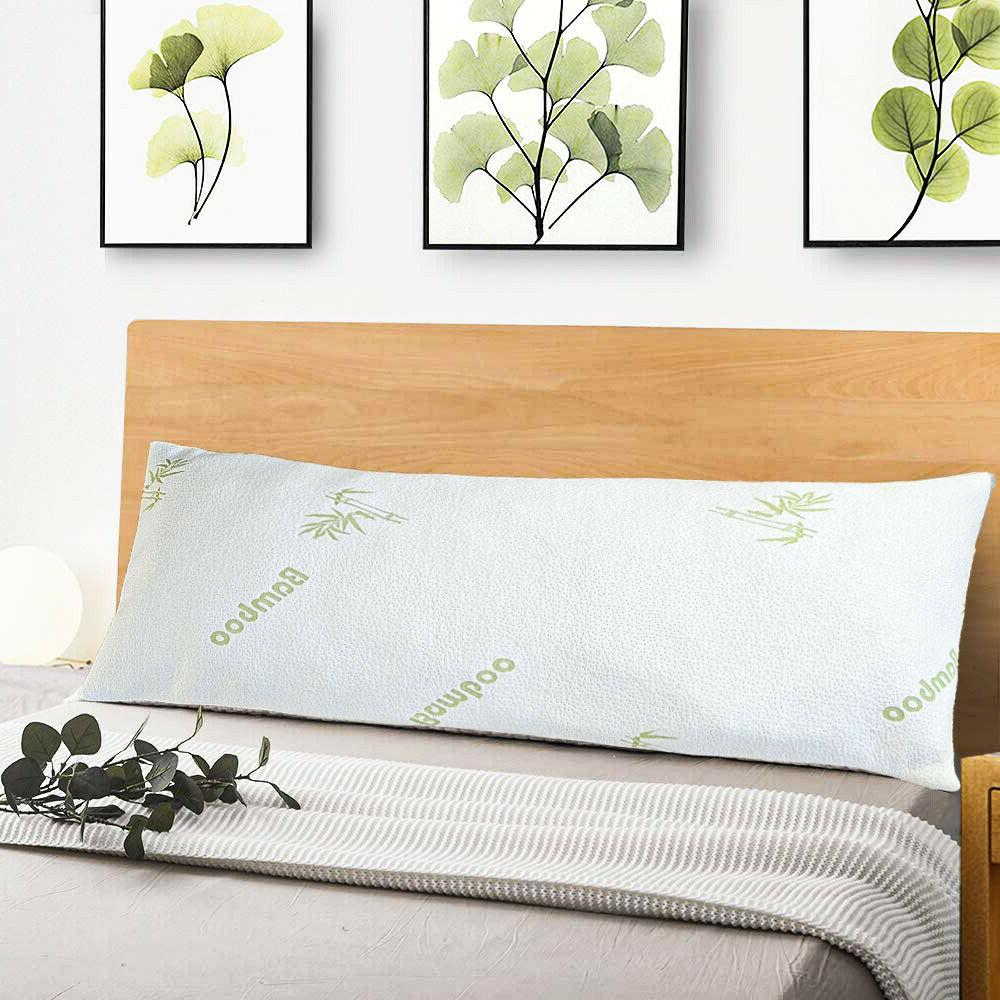 Memory Foam Body Pillow Luxurious Bamboo Cover Soft Hypoalle