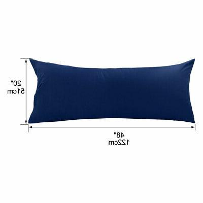 2/1Pcs Solid Pillow Case Cover Pillowcase King Body Size