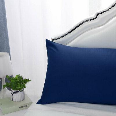 2/1Pcs Solid Cover Pillowcase Standard King