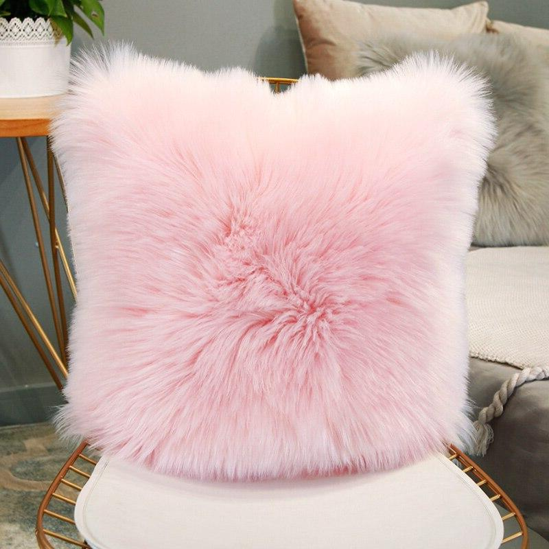 40/45/50cm Plush <font><b>Pillow</b></font> <font><b>Faux</b></font> <font><b>Fur</b></font> Sofa Bed inner core