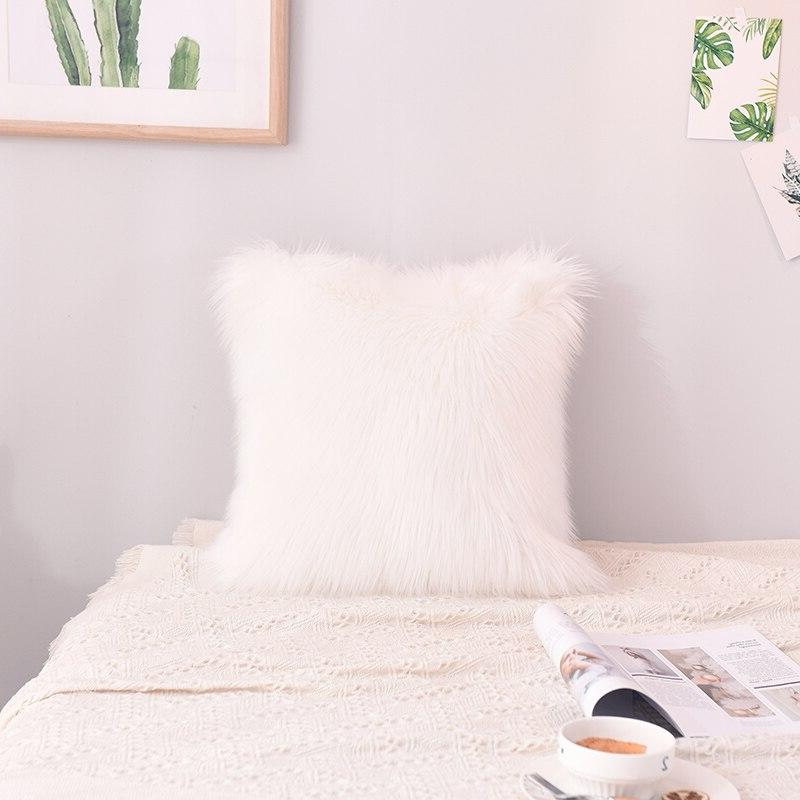 45cmx45cm simple plush pillowcase casual font b