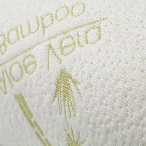 "46"" Hypoallergenic Bamboo Memory Foam Body Pillow"