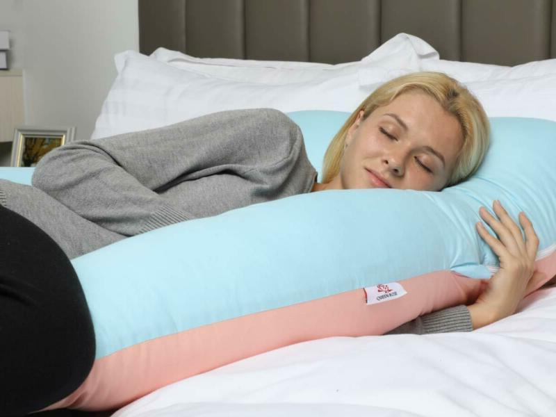 """Queen Rose 61"""" Pregnancy Pillow- Full Pillow-U Shaped"""