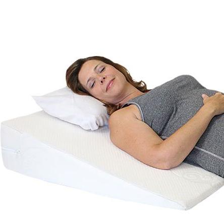 Acid Reflux Wedge Pillow with Memory Foam Overlay and Remova