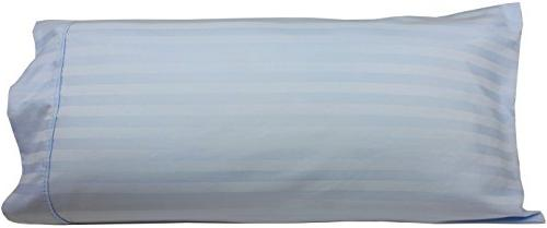 Body Pillowcase, Cotton, Thread 21x60 With Wrinkle Guard Fits 20x54, Blue