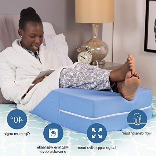 DMI Elevated Foam Elevating Legs, Improved Circulation, Reducing Pain, Surgery and Recovery, Blue, x x
